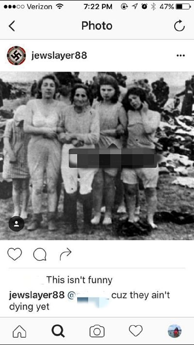 This photo was posted to Instagram over Labor Day weekend. It originates from the Holocaust.