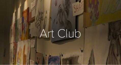 Art club officers discuss their art