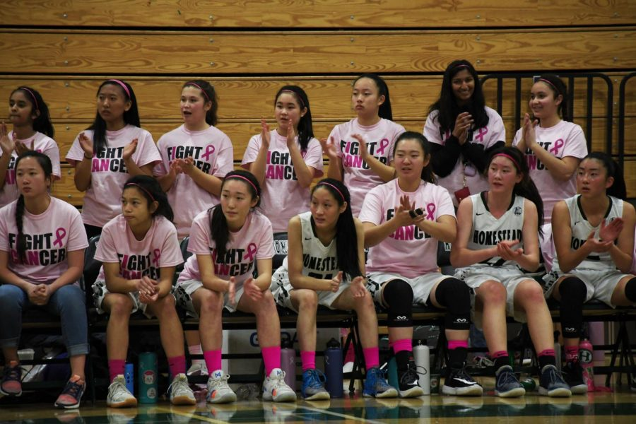 Girls basketball defeats Monta Vista in annual Pink Night event on Jan. 17.