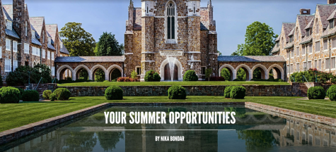 Your summer opportunities