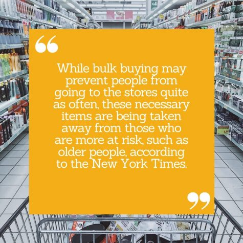 Panic buying leaves less important items for those who need them.