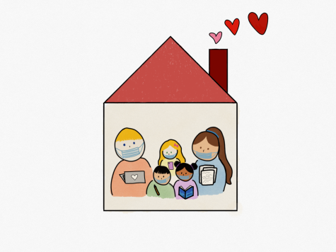 Due to COVID-19, many families are ordered to stay home, where they complete their work and school as well as spend some family time.