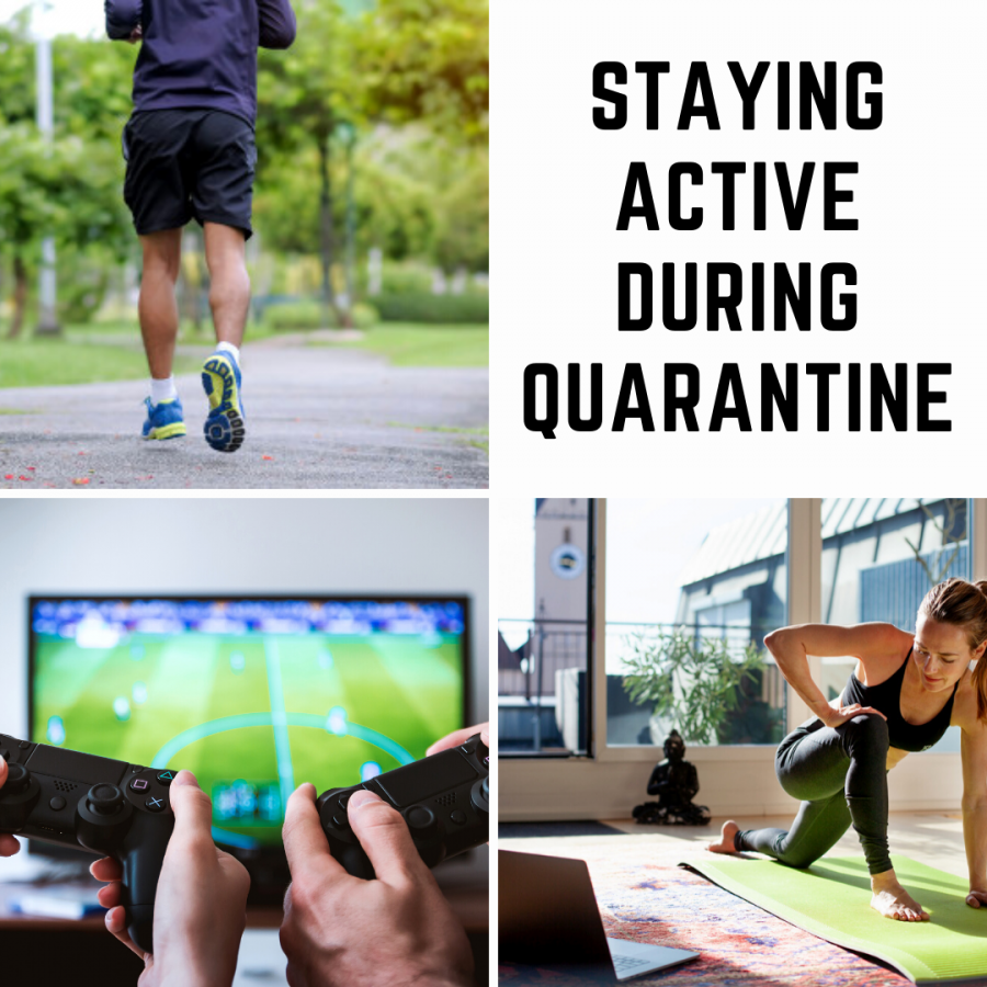 Running, playing esports, and doing workouts at home are some ways people can spend time during quarantine.