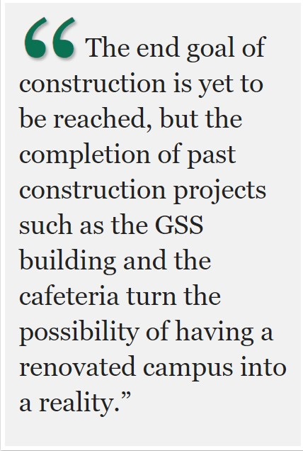 Construction continues amid distance learning