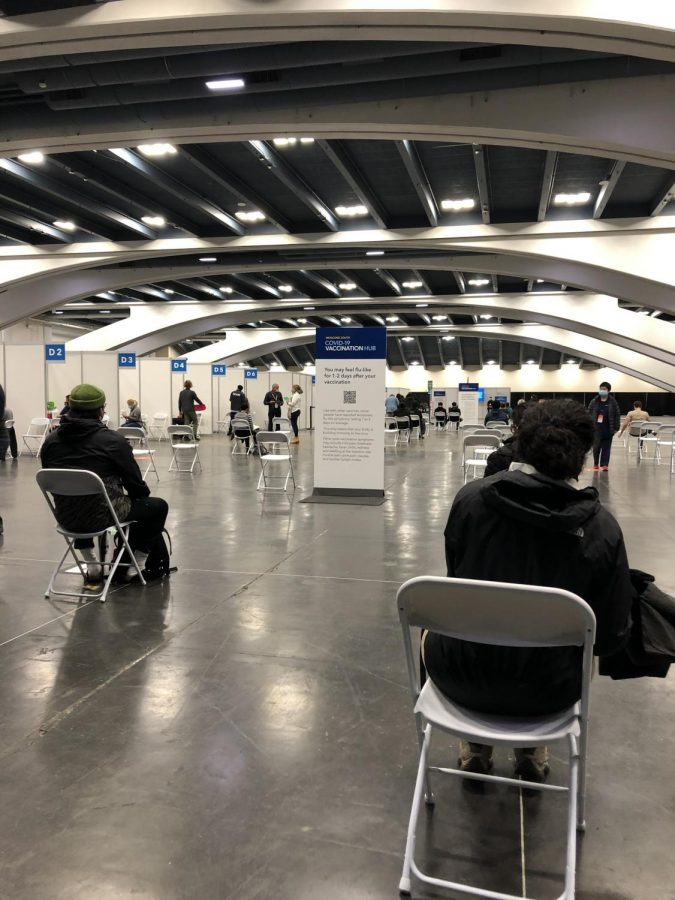 With the school reopening drawing close, teachers are getting their second vaccinations at locations such as Moscone Center in San Francisco.