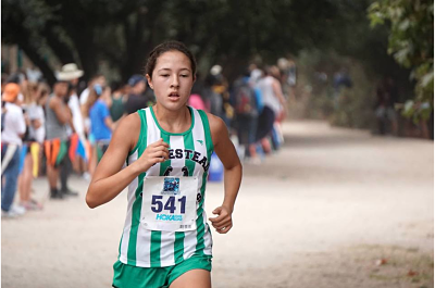 Sophomore Varsity Captain Elena Kamas competed at the Earlybird Invitational in Salinas along with many other mustangs. The team placed second overall out of the 70 teams that competed at the meet.