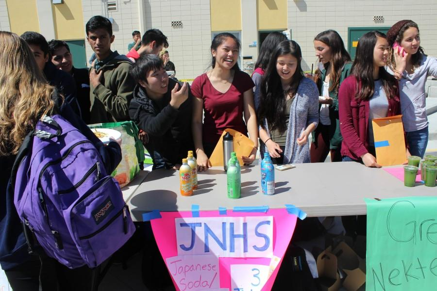Students selling Japanese soda at last springs Club and Grub.