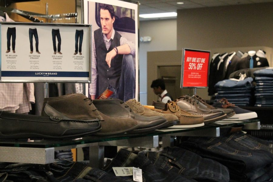 Men's Wearhouse displays select option of shoes so that you can be a shoe-in for prom.