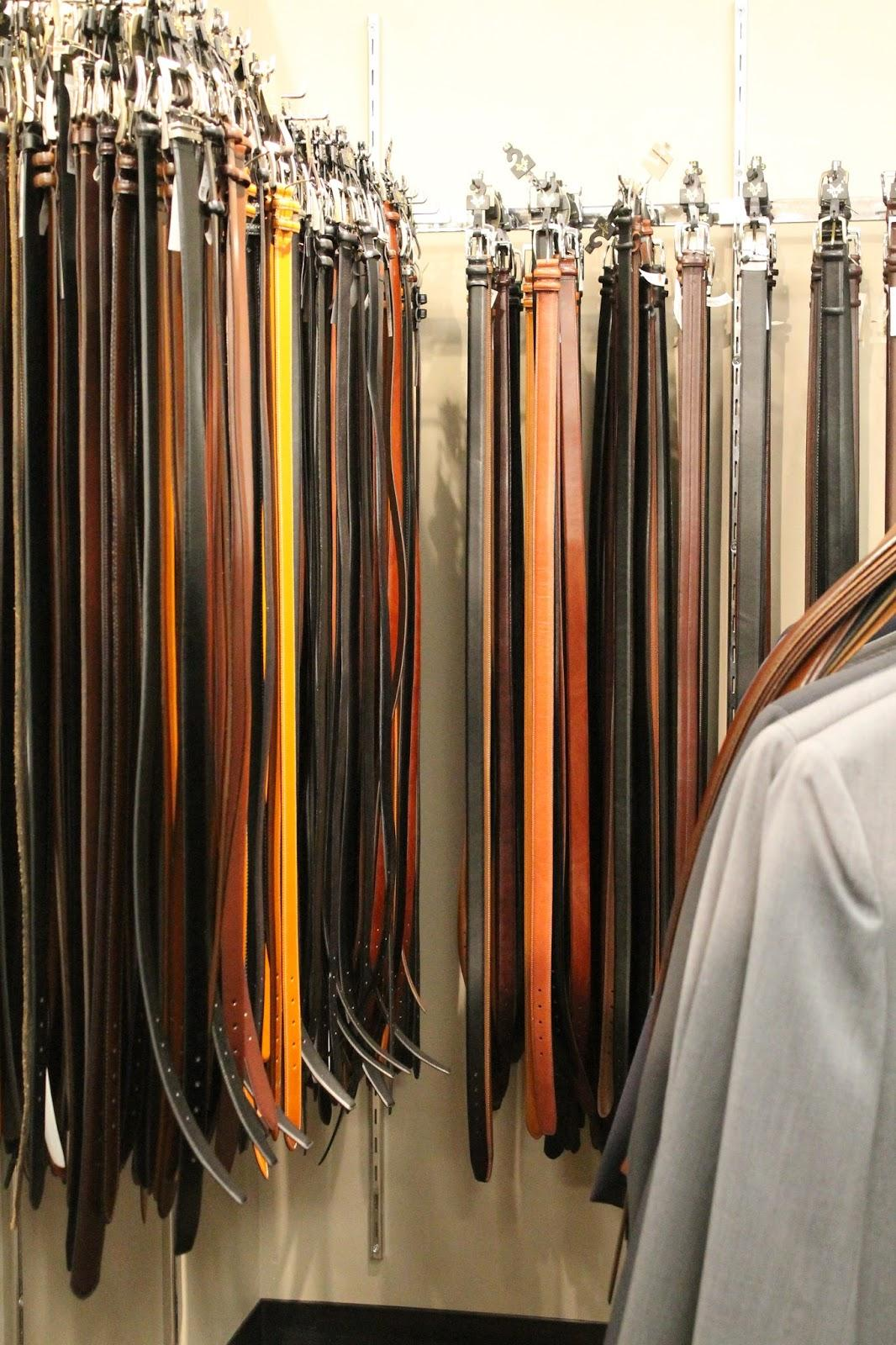 Variety of belts, as belts are a great accessory and help you to not sag.