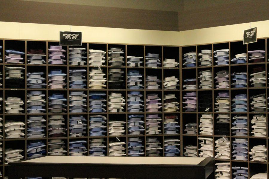 Before you flirt at prom make sure to choose a shirt or two Display Of Shirts at Men's Wearhouse to help every guy have a shirt and spare to flirt at prom.