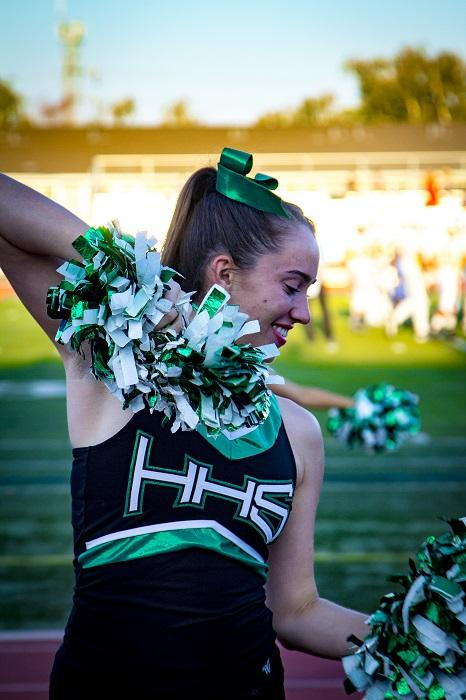 Senior+Katy+Moylan+performs+with+the+Equestriettes+during+the+pre-game+show.%0A