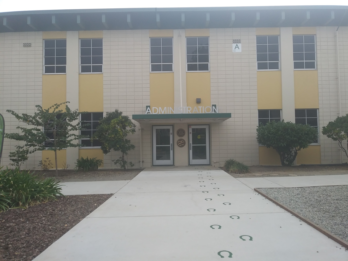 The A Building stands at the center of the HHS campus, and contains both classrooms and offices.