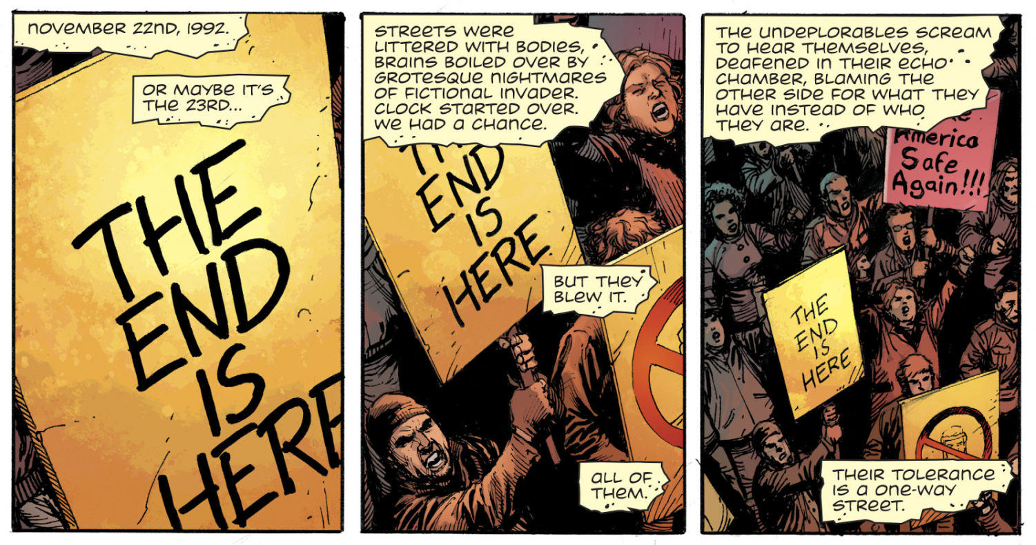 """""""Doomsday Clock reaches top-selling on Comixology and gains attention from fans."""""""