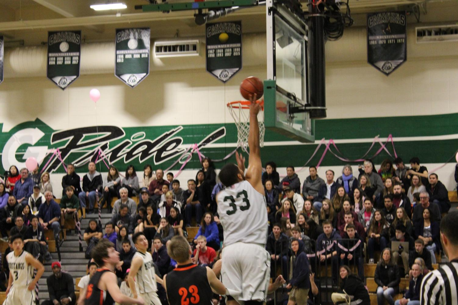 The boys varsity basketball team is fighting their way to the top