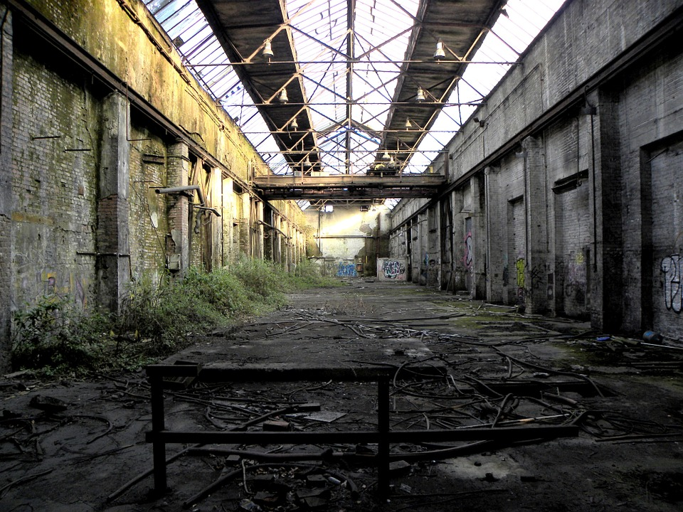 Brownfields can be any area with pollutants or toxins, such as abandoned factory buildings, dumping sites, and quarries