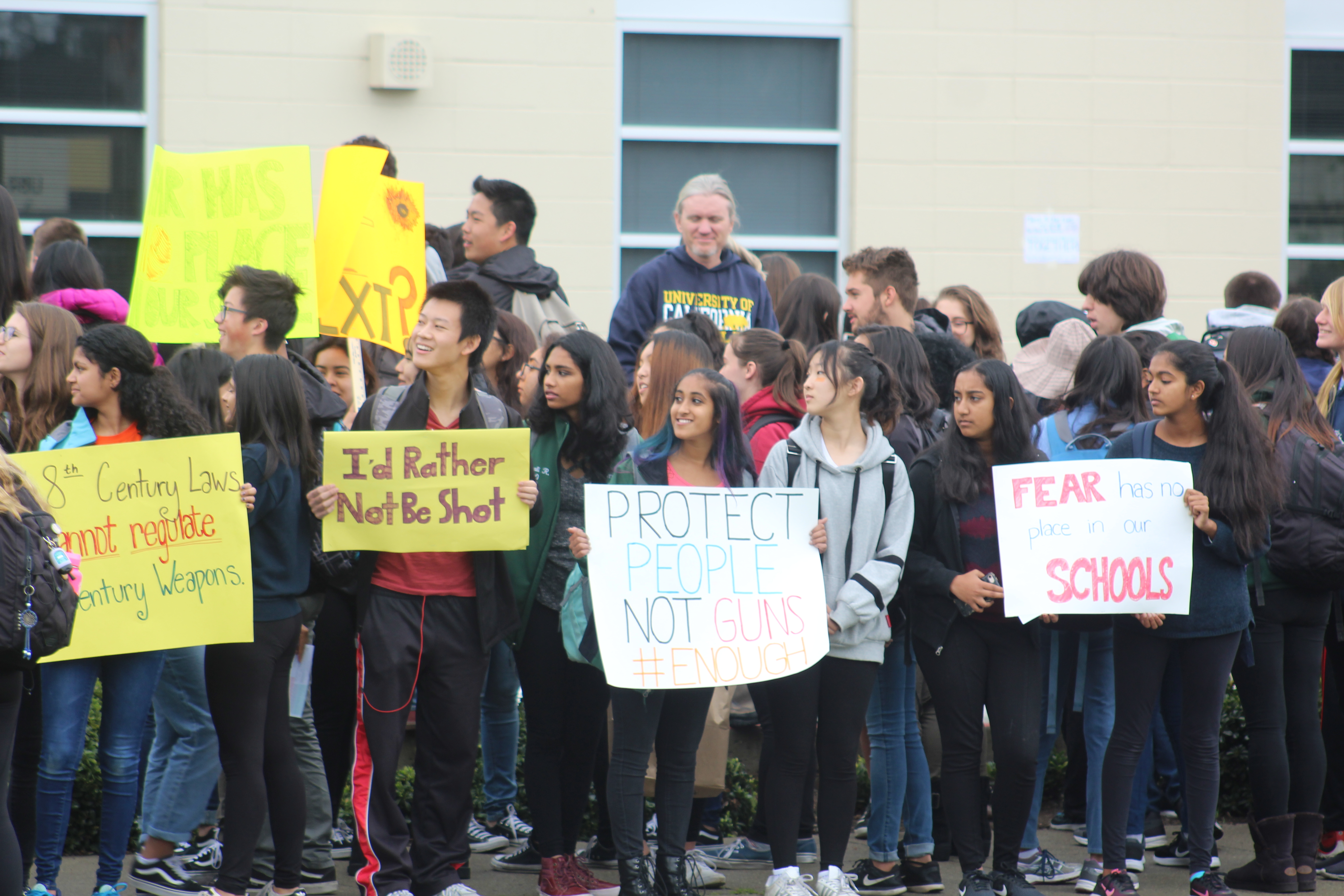 The walk out continued on after the 17 minutes, as students walked to FHS and to city hall.