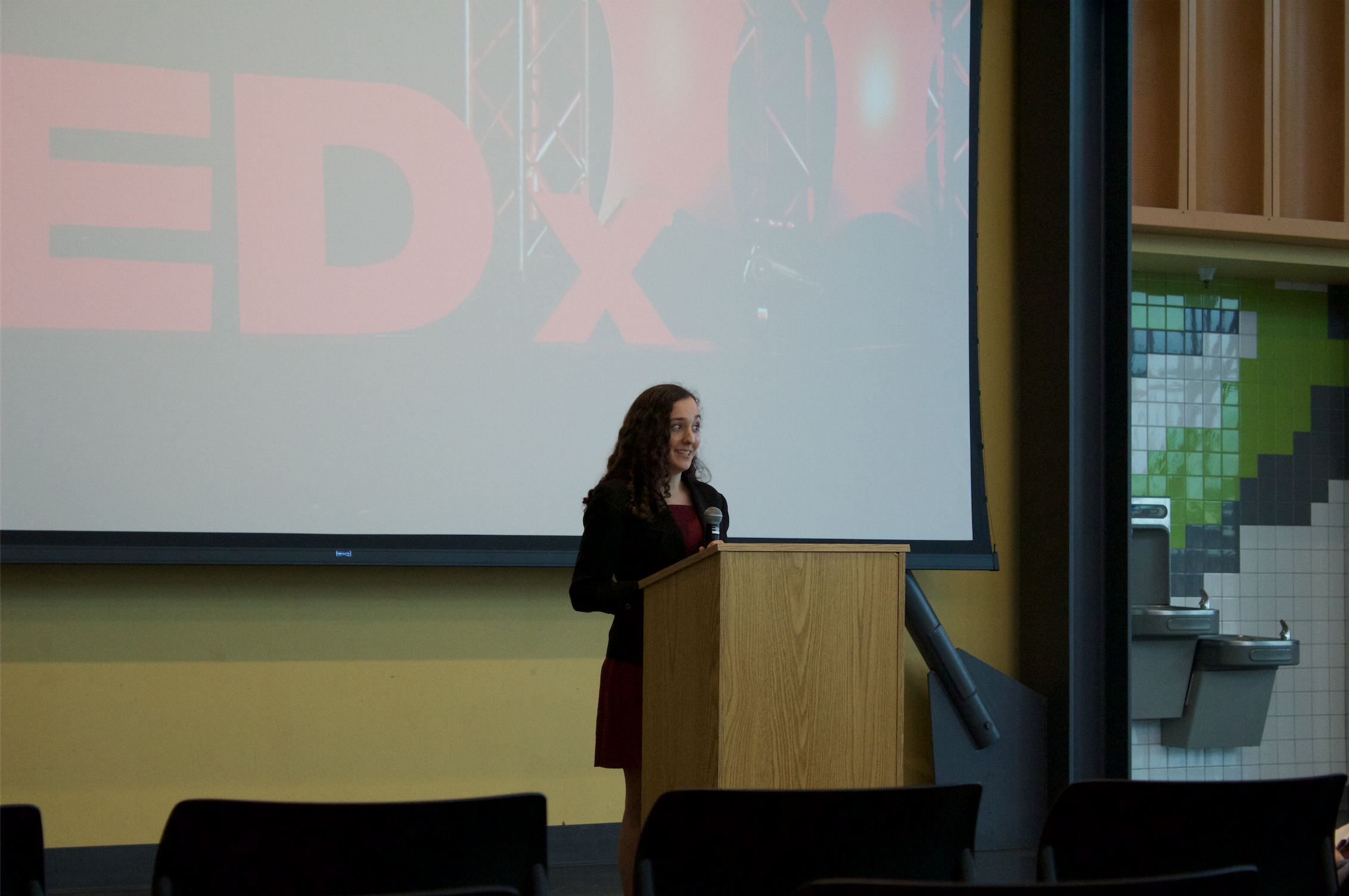 TEDx club held first official conference in cafeteria last Friday.