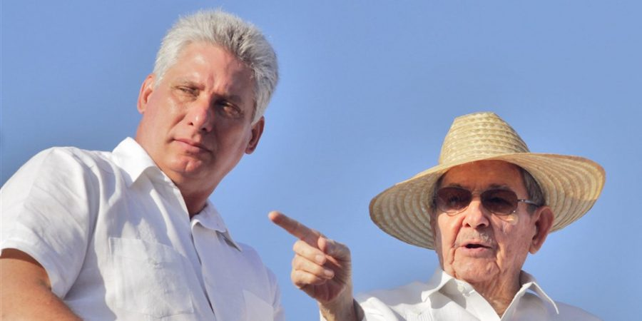 Miguel Diaz-Canel (left), the Cuban first vice president under Raul Castro (right), was named the country's president on Thursday. Photo courtesy of Getty images.