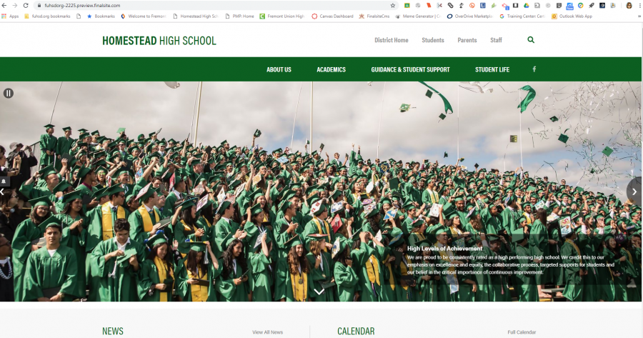 The new website layout attempts to accommodate the different needs of students, parents and staff, according to FUHSD Coordinator of Communications Rachel Zlotziver. Photo courtesy of Amity Bateman.