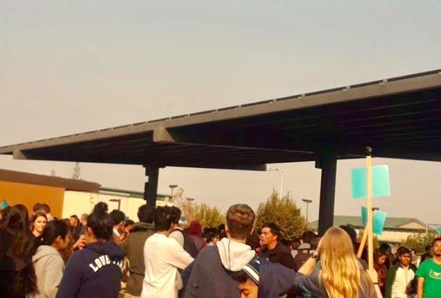 Students were evacuated in the smoke-filled air that was a result of Northern California's wildfires.