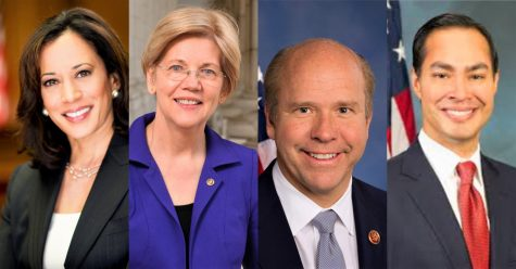 Although the primaries are almost a year away, candidates are already beginning to emerge. From left: Kamala Harris, Elizabeth Warren, John Delaney and Julián Castro.