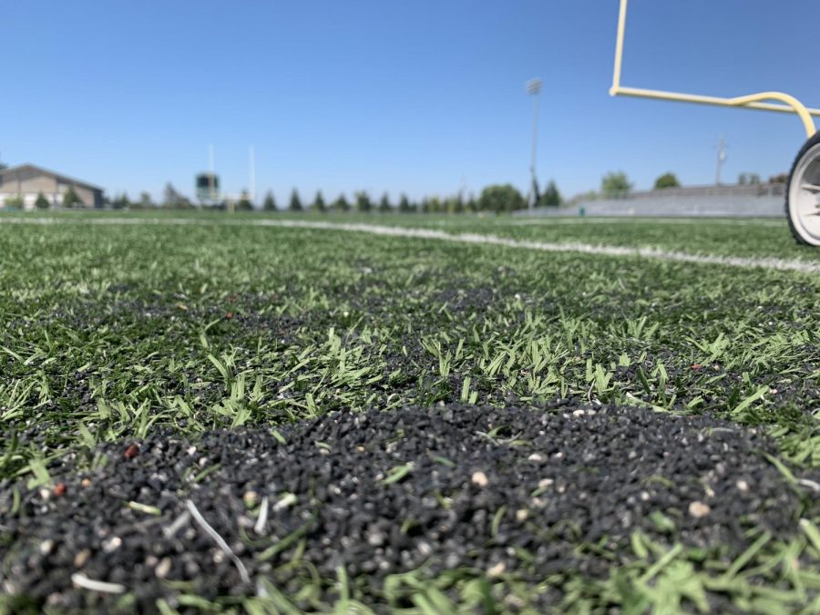 Encapsulated tire crumbs, which make up the infill of artificial turfs across FUHSD, can reach temperatures of up to 160 degrees on hot days.