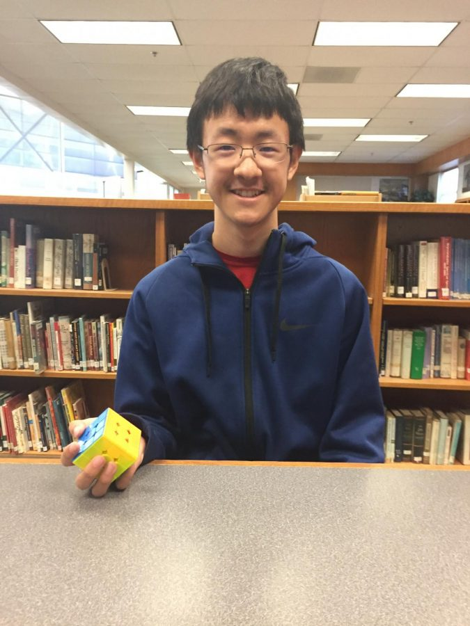 """Sophomore David Zhao is one of the faces of cubing club. Theres a lot of people at our school who are really fast, Zhao said. And like, in the top one percent of the cubing world. So its a very high proportion in terms of population versus everywhere else."""""""