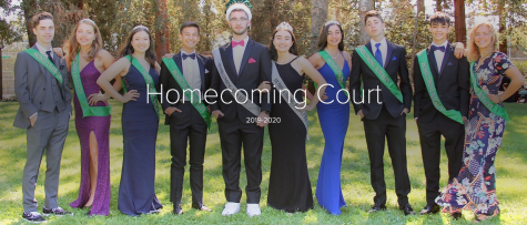Homecoming Court poses at Serra Park after Nadav Ben David and Soraya Miremadi were named King and Queen.