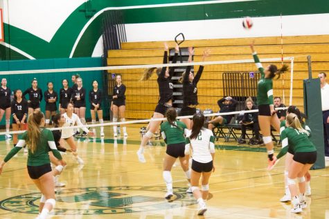 Girls volleyball battle against Palo Alto