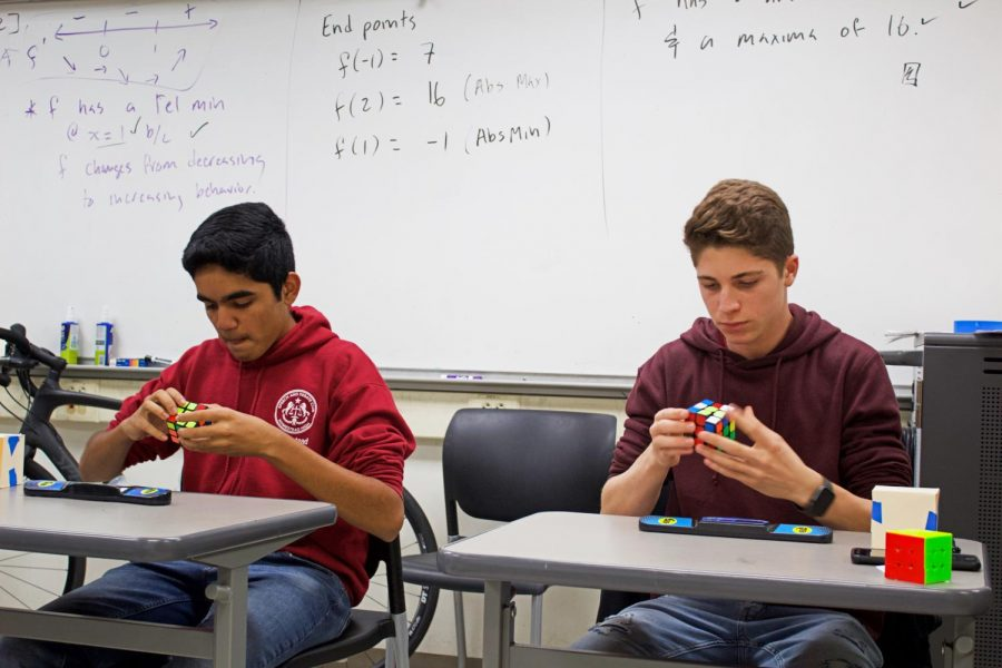 Cubing competition allows students to test skills