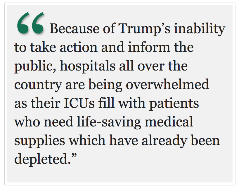 The Partisan Party: Trump's lies about the coronavirus are hurting Americans