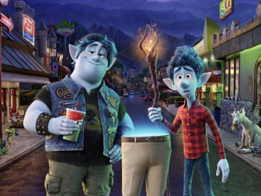 Brothers Ian and Barley embark on a magical journey with the lower half of their father, following stereotype after stereotype to fulfill the plot.