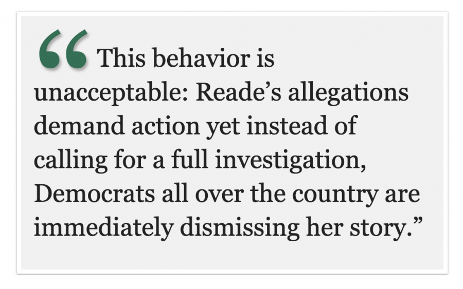 The Partisan Party: Democrats should not dismiss the sexual assault allegations against Joe Biden