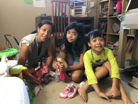 History teacher Andrea Yee plays with her kids in the extra time given by distance learning.