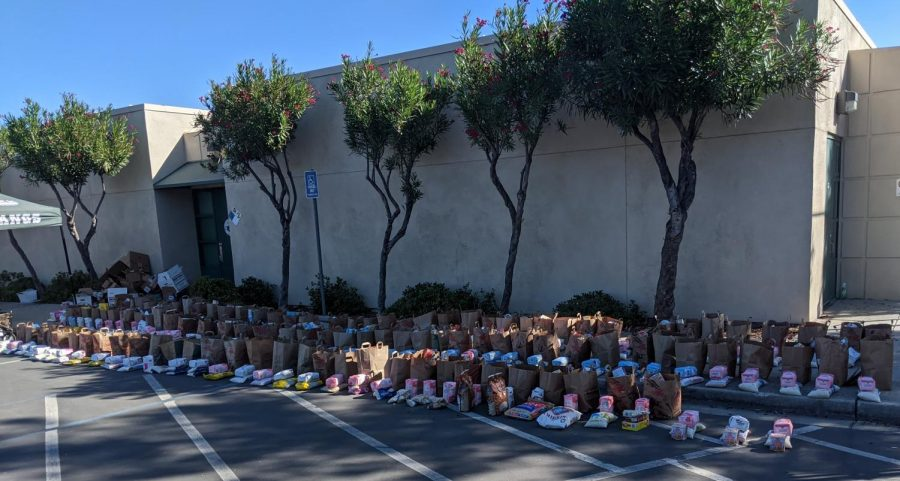 The Homestead Food Pantry distributed care packages including food and other necessities to 120 families on Oct. 14.