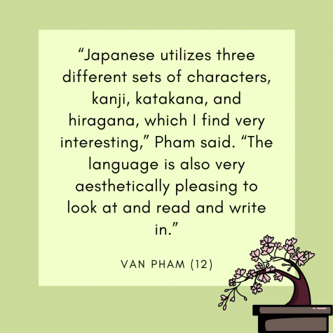 Senior Van Pham talks about the unique qualities of the Japanese language.