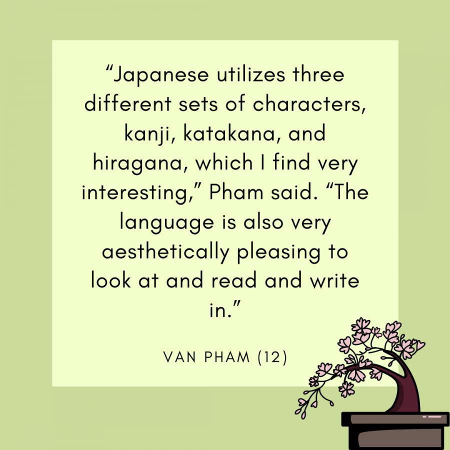 Senior Van Pham talks about the unique qualities of the Japanese language.