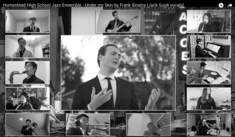 HHS Jazz Ensemble performs Under My Skin by Frank Sinatra for the virtual CMEA festival.