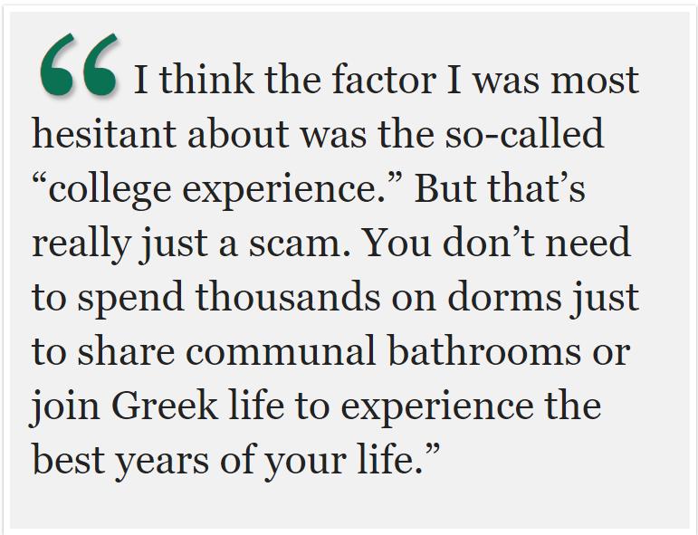 Ivy League? UC's? Nope, community college