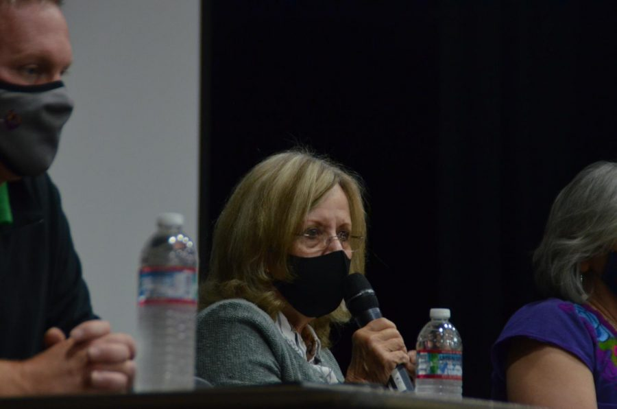 JOURNALISM PRESS CONFERENCE: Superintendent Polly Bove answers questions about the future of advisories and how the district plans to educate students about social injustices.
