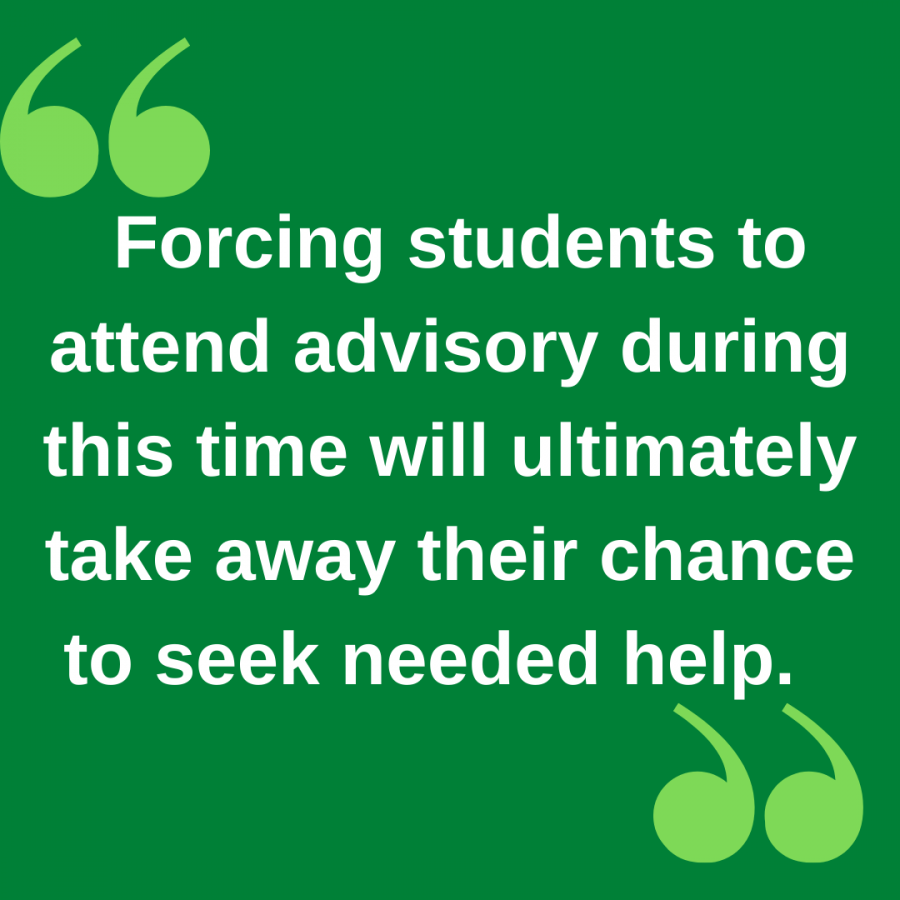 Hosting advisory during tutorial prevents students from seeking academic help