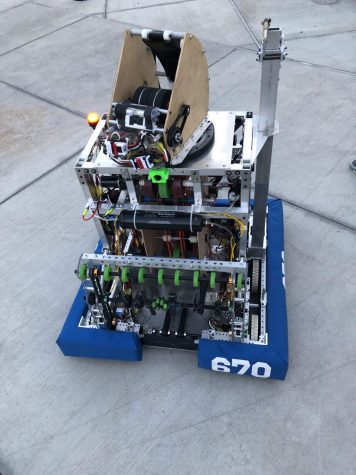 Robotics completion for scoring points by shooting ball to basket
