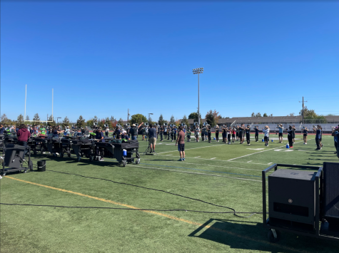 STRIVING FOR PERFECTION: The marching band prepares for their upcoming competition.